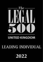The Legal 500 Leading Individual 2022 logo