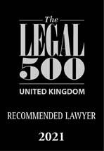The Legal 500 Recommended Lawyer 2021 logo