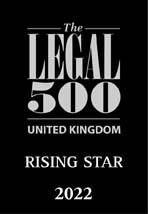 The Legal 500 Rising Star 2022 logo
