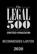 The Legal 500 Recommended Lawyer 2020 logo