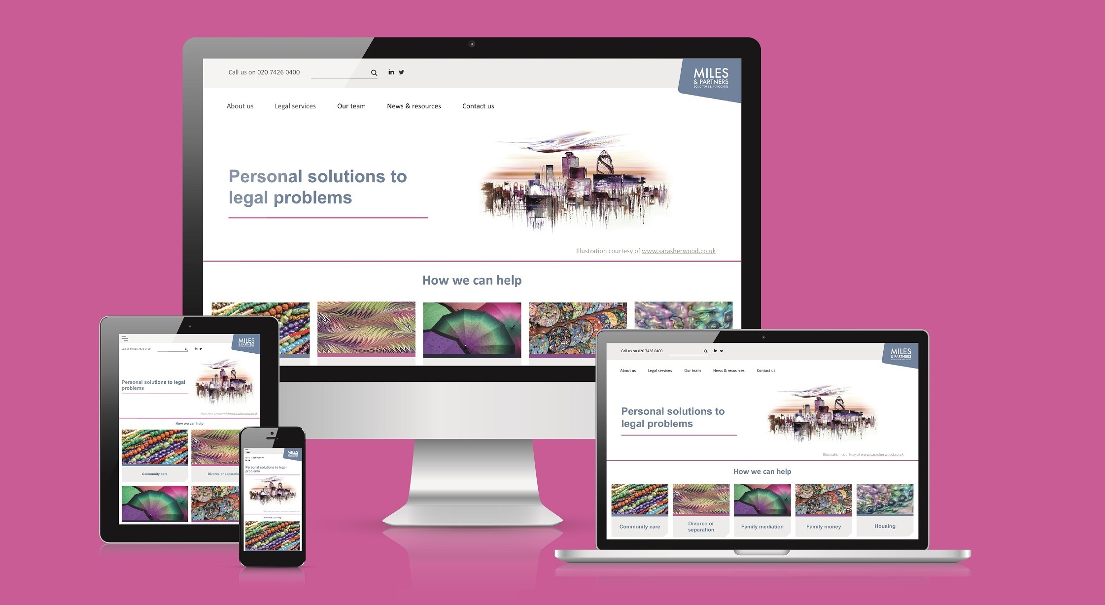 Miles & Partners new website 2020