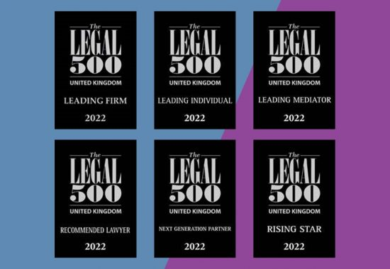 The Legal 500 2022 collection of logos and rankings earned by Miles & Partners
